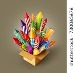 unusual 3d illustration of... | Shutterstock . vector #730065676