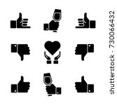 hand gestures icon set | Shutterstock .eps vector #730066432
