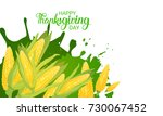 happy thanksgiving day autumn... | Shutterstock .eps vector #730067452