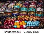 bright colorful tibetan... | Shutterstock . vector #730091338