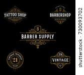 vector vintage frame for logo ... | Shutterstock .eps vector #730093702