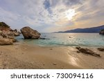 agiofili beach near vasiliki... | Shutterstock . vector #730094116