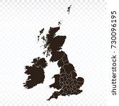 map united kingdom map. each... | Shutterstock .eps vector #730096195