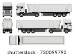 truck with trailer vector mock... | Shutterstock .eps vector #730099792
