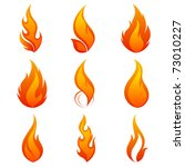 fire flames. collage | Shutterstock .eps vector #73010227