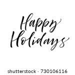 Happy Holidays Phrase. Greetin...