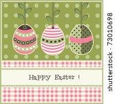 easter card  vector | Shutterstock .eps vector #73010698