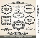 vintage scrolls and frame.... | Shutterstock .eps vector #73010725