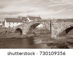 stone bridge and river conway ...