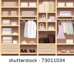 seamless background with wear... | Shutterstock .eps vector #73011034