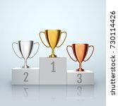 winner background. gold  silver ... | Shutterstock .eps vector #730114426