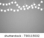 christmas lights isolated on... | Shutterstock .eps vector #730115032