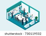 qualitative isometry  3d... | Shutterstock .eps vector #730119532