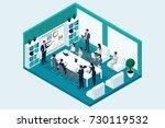 qualitative isometry  3d... | Shutterstock .eps vector #730119532
