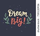 dream big   poster. hand... | Shutterstock . vector #730120936