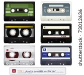 collection of vector audio... | Shutterstock .eps vector #73012636