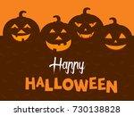 happy halloween vector... | Shutterstock .eps vector #730138828