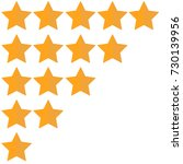 rating stars. flat design... | Shutterstock .eps vector #730139956
