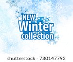 new winter collection  winter... | Shutterstock .eps vector #730147792