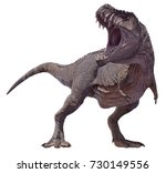 3d rendering of a tyrannosaurus ...   Shutterstock . vector #730149556