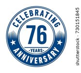 76 years anniversary logo... | Shutterstock .eps vector #730151845