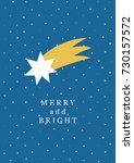 cute merry and bright card... | Shutterstock .eps vector #730157572