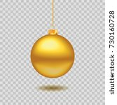gold christmas ball. new year... | Shutterstock .eps vector #730160728