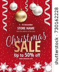 the christmas sale. advertising ... | Shutterstock .eps vector #730162228