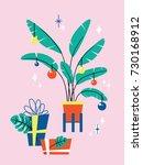 christmas invitation card... | Shutterstock .eps vector #730168912