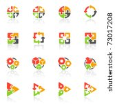 abstract geometrical icons.... | Shutterstock .eps vector #73017208