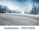 winter road | Shutterstock . vector #730173202