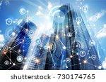 modern skyscrapers of madrid... | Shutterstock . vector #730174765