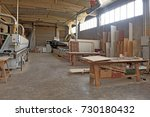 carpentry shop | Shutterstock . vector #730180432