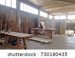 carpentry shop | Shutterstock . vector #730180435