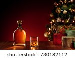 close up view  of  glass with...   Shutterstock . vector #730182112