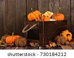Autumn Arrangement With Wooden...