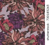 vector seamless pattern with... | Shutterstock .eps vector #730185265