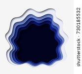 3d abstract paper cut blue... | Shutterstock .eps vector #730185532