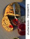 artisan made savoy olive loaf...   Shutterstock . vector #730186972