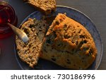 artisan made savoy olive loaf...   Shutterstock . vector #730186996