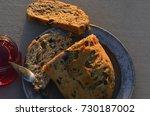 artisan made savoy olive loaf...   Shutterstock . vector #730187002