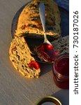 artisan made savoy olive loaf...   Shutterstock . vector #730187026