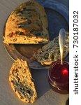 artisan made savoy olive loaf...   Shutterstock . vector #730187032