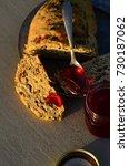 artisan made savoy olive loaf...   Shutterstock . vector #730187062