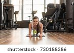 front view of a young fit woman ...   Shutterstock . vector #730188286