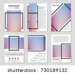 abstract vector layout... | Shutterstock .eps vector #730189132
