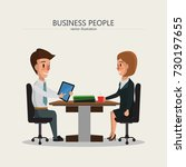 business people meeting.... | Shutterstock .eps vector #730197655