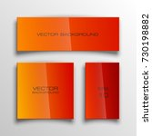 abstract banner set. the...   Shutterstock .eps vector #730198882