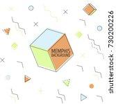 memphis style vector... | Shutterstock .eps vector #730200226