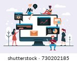 web design and app development... | Shutterstock .eps vector #730202185